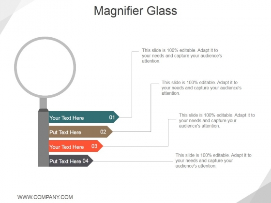 Magnifier Glass Ppt PowerPoint Presentation Infographics Backgrounds