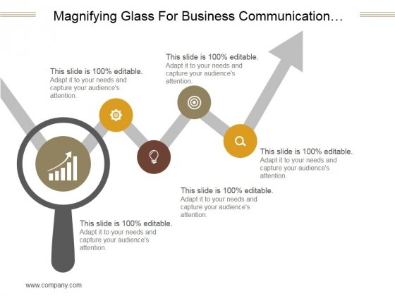 Magnifying Glass For Business Communication Process Ppt PowerPoint Presentation Gallery