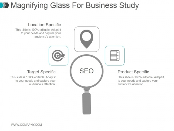 Magnifying Glass For Business Study Ppt PowerPoint Presentation Shapes