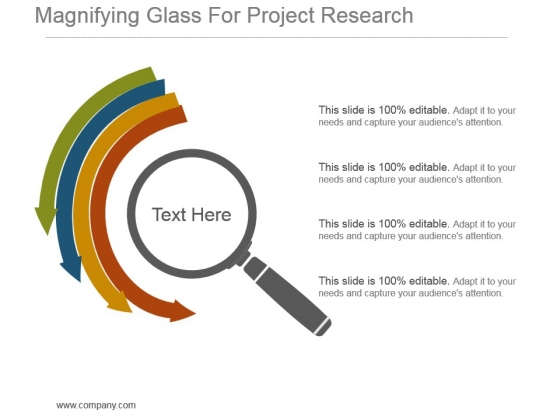 Magnifying Glass For Project Research Example Of Ppt