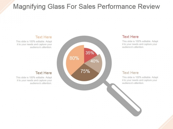 Magnifying Glass For Sales Performance Review Ppt PowerPoint Presentation Model