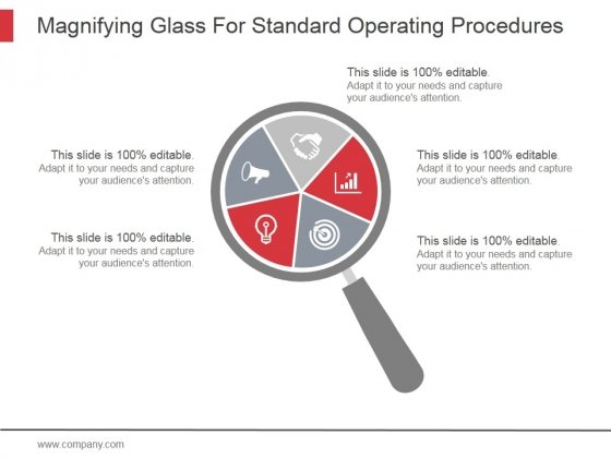 Magnifying Glass For Standard Operating Procedures Ppt PowerPoint Presentation Gallery
