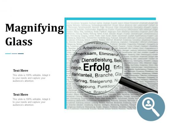 Magnifying Glass Marketing Ppt Powerpoint Presentation Layouts Deck