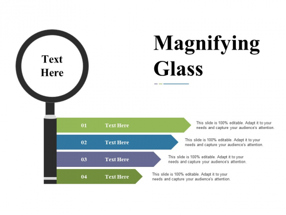 Magnifying Glass Ppt PowerPoint Presentation Show Slide Portrait