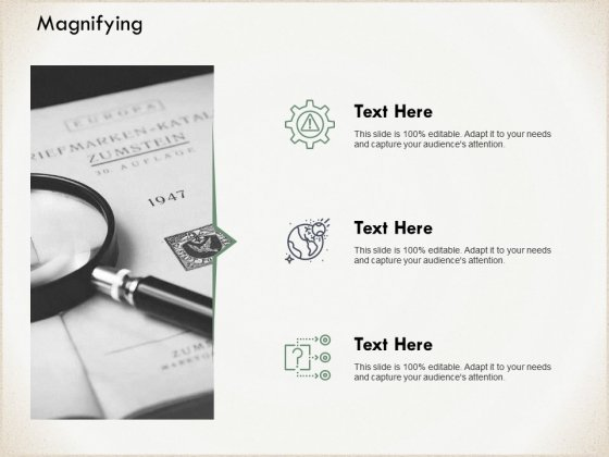 Magnifying Glass Technology Ppt PowerPoint Presentation Gallery Visual Aids