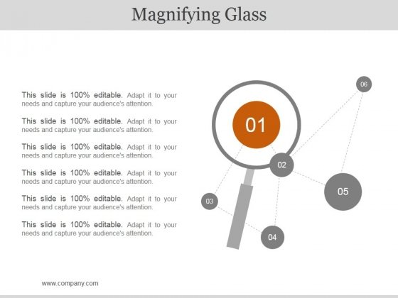 Magnifying Ppt PowerPoint Presentation File Clipart Images