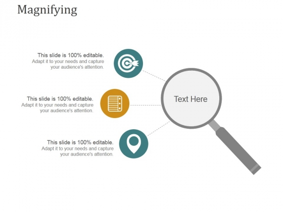 Magnifying Ppt PowerPoint Presentation Icon Show