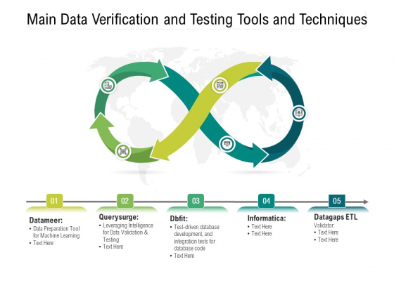 Main_Data_Verification_And_Testing_Tools_And_Techniques_Ppt_PowerPoint_Presentation_Gallery_Design_Ideas_PDF_Slide_1