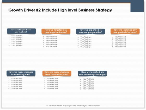 Main Revenues Progress Levers For Each Firm And Sector Growth Driver 2 Include High Level Business Strategy Sample PDF