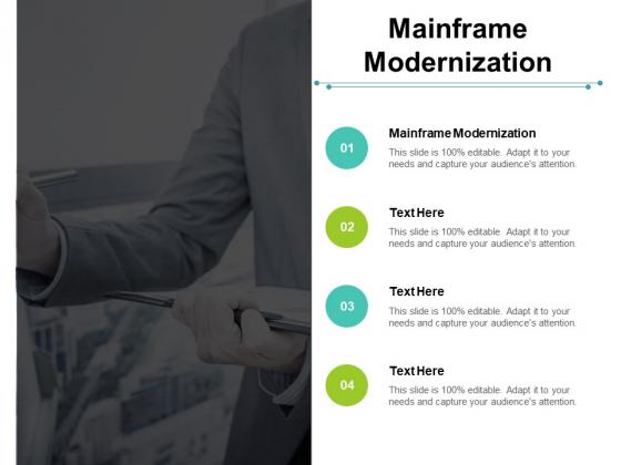 Mainframe Modernization Ppt PowerPoint Presentation Visual Aids Deck Cpb