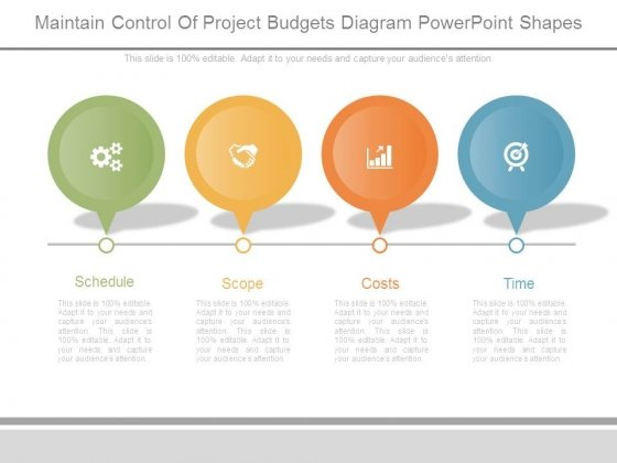 Maintain Control Of Project Budgets Diagram Powerpoint Shapes