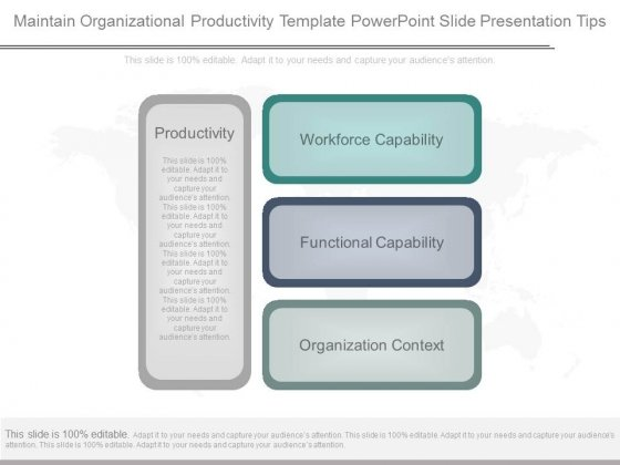 Maintain Organizational Productivity Template Powerpoint Slide - Table of organization template