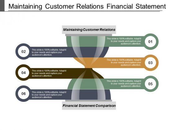 Maintaining Customer Relations Financial Statement Comparison Productivity Metrics Ppt PowerPoint Presentation Infographics Graphic Images