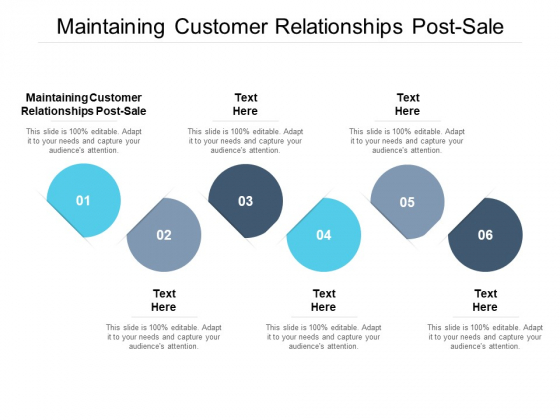 Maintaining Customer Relationships Post Sale Ppt PowerPoint Presentation Gallery Background Images Cpb Pdf