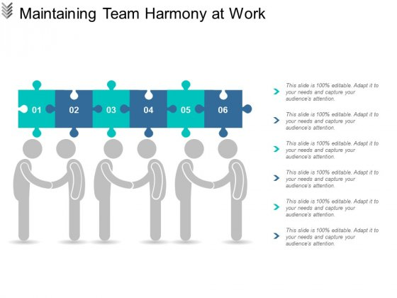 Maintaining Team Harmony At Work Ppt Powerpoint Presentation Ideas Elements