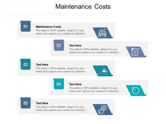 Maintenance Costs Ppt PowerPoint Presentation Professional Example File Cpb Pdf