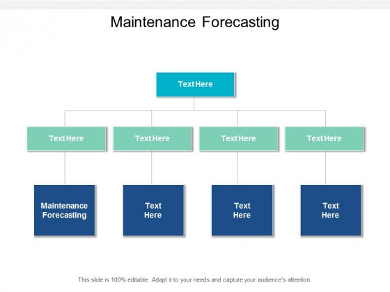 Maintenance Forecasting Ppt PowerPoint Presentation Infographic Template Slideshow Cpb