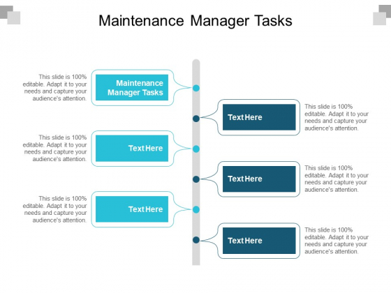 Maintenance Manager Tasks Ppt PowerPoint Presentation Layouts Designs Download Cpb