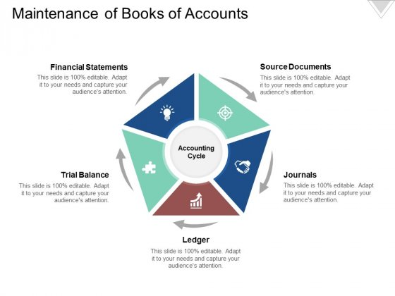 Maintenance Of Books Of Accounts Ppt PowerPoint Presentation Ideas Backgrounds
