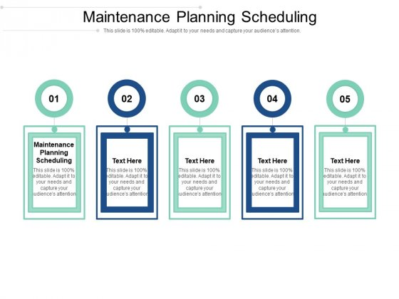 Maintenance Planning Scheduling Ppt PowerPoint Presentation Pictures Example Cpb Pdf