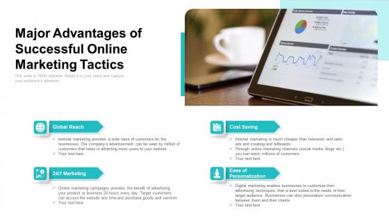 Major Advantages Of Successful Online Marketing Tactics Ppt Outline Slide Download PDF