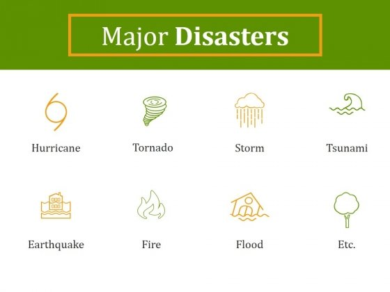 Major Disasters Ppt PowerPoint Presentation Clipart