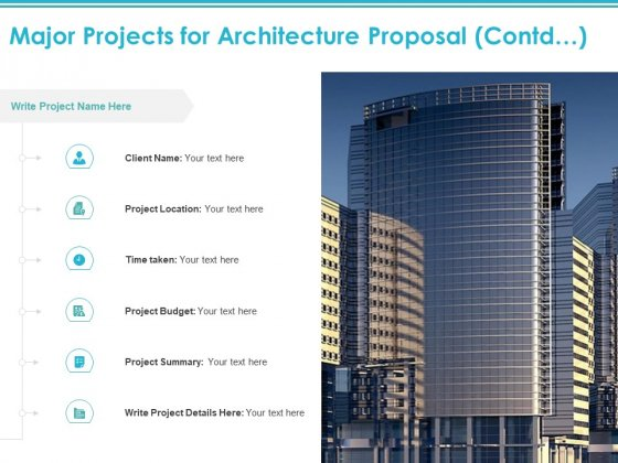 Major Projects For Architecture Proposal Contd Ppt PowerPoint Presentation Infographic Template Show