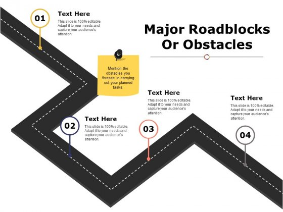 Major Roadblocks Or Obstacles Ppt PowerPoint Presentation Gallery Examples