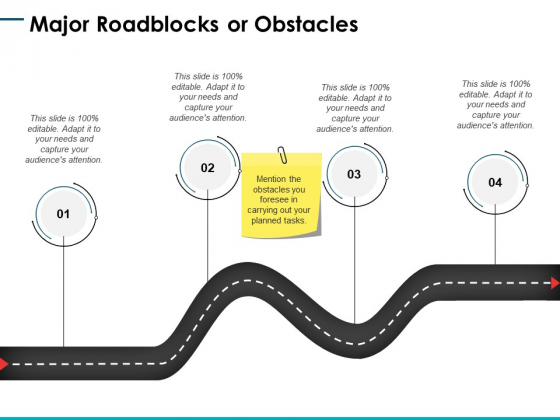 Major Roadblocks Or Obstacles Ppt PowerPoint Presentation Icon Diagrams