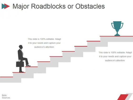 Major Roadblocks Or Obstacles Ppt PowerPoint Presentation Ideas Templates
