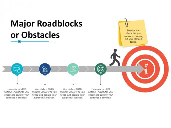 Major Roadblocks Or Obstacles Ppt PowerPoint Presentation Infographic Template Graphics Template