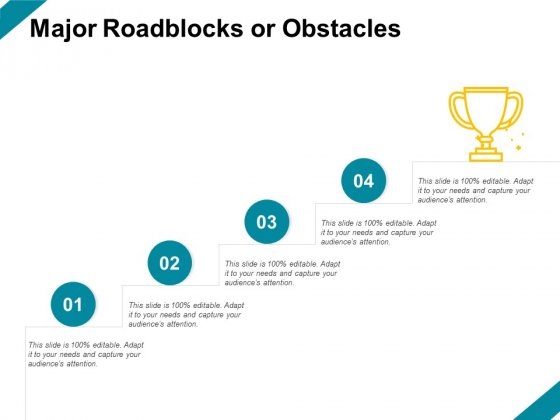 Major Roadblocks Or Obstacles Ppt PowerPoint Presentation Slides Deck