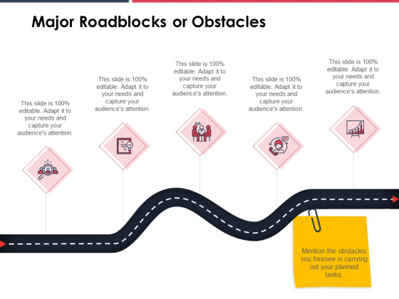 Major Roadblocks Or Obstacles Ppt PowerPoint Presentation Styles Elements