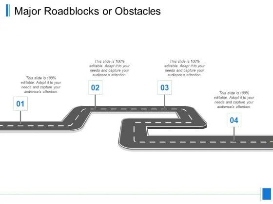 Major Roadblocks Or Obstacles Ppt PowerPoint Presentation Summary Microsoft