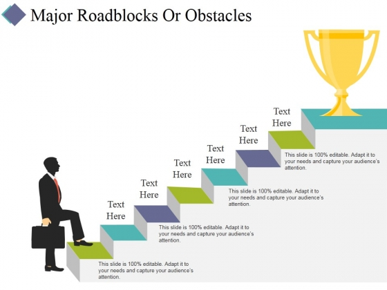 Major Roadblocks Or Obstacles Template 1 Ppt PowerPoint Presentation Inspiration Graphics Design
