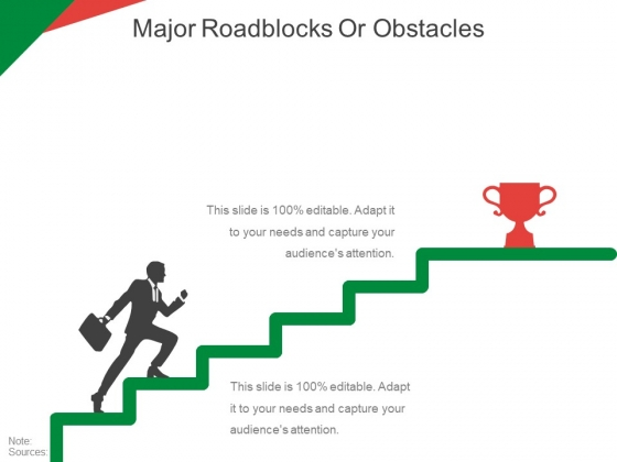 Major Roadblocks Or Obstacles Template 1 Ppt PowerPoint Presentation Pictures Infographics