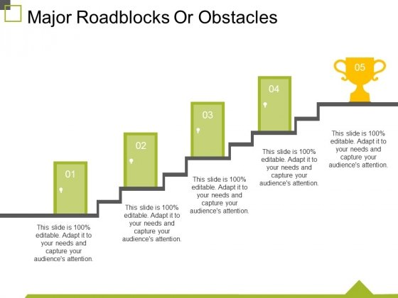 Major Roadblocks Or Obstacles Template 1 Ppt PowerPoint Presentation Styles Vector