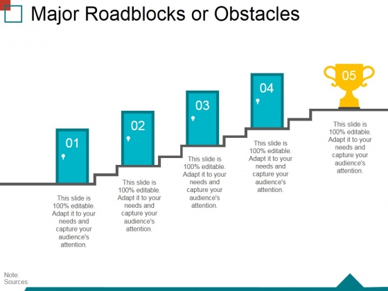 Major Roadblocks Or Obstacles Template 2 Ppt PowerPoint Presentation File Layouts
