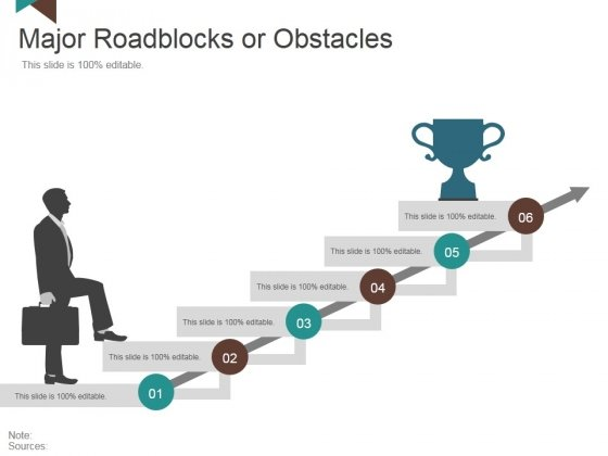 Major Roadblocks Or Obstacles Template 2 Ppt PowerPoint Presentation Inspiration Design Templates