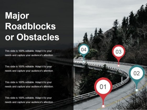 Major Roadblocks Or Obstacles Template Ppt PowerPoint Presentation Inspiration Slide Portrait