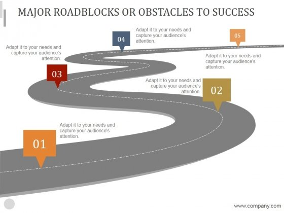 Major Roadblocks Or Obstacles To Success Ppt PowerPoint Presentation Samples