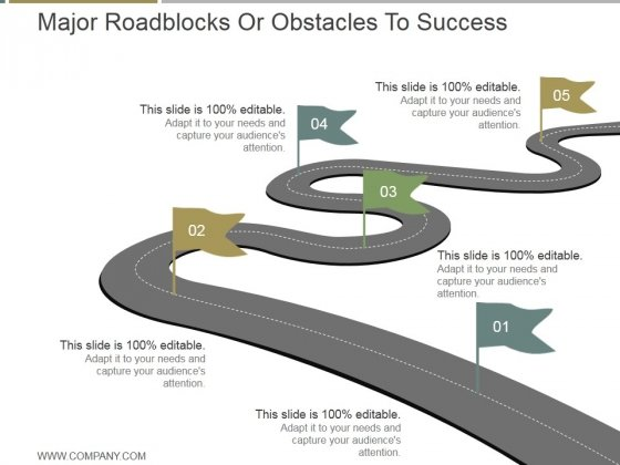 major roadblocks or obstacles to success ppt powerpoint, Presentation templates