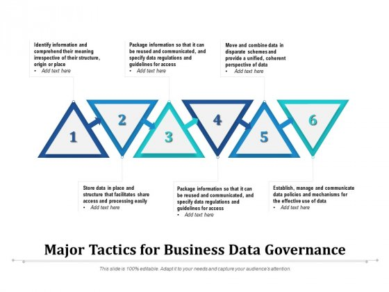 Major Tactics For Business Data Governance Ppt PowerPoint Presentation File Graphics Download PDF