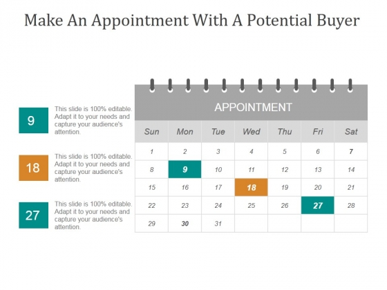 Make An Appointment With A Potential Buyer Ppt PowerPoint Presentation Tips