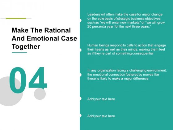 Make The Rational And Emotional Case Together Ppt PowerPoint Presentation Pictures Inspiration