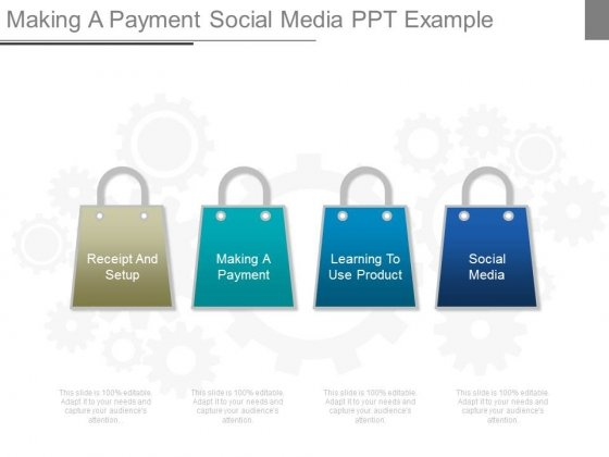 Making A Payment Social Media Ppt Example