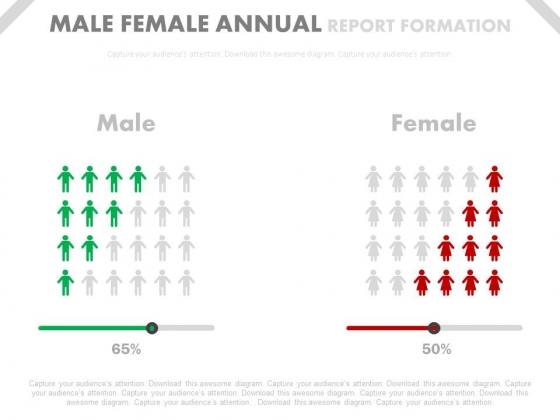Male Female Ratio Comparison Chart Powerpoint Slides