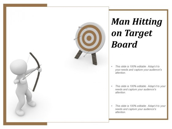 Man Hitting On Target Board Ppt Powerpoint Presentation Slides Brochure