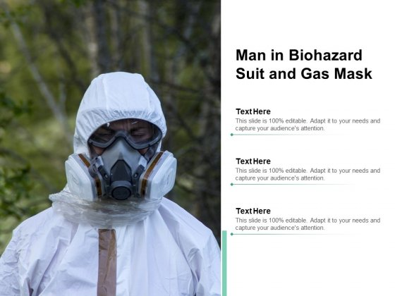 Man In Biohazard Suit And Gas Mask Ppt Powerpoint Presentation Pictures Sample