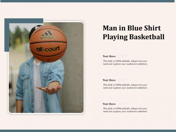 Man In Blue Shirt Playing Basketball Ppt PowerPoint Presentation File Format Ideas PDF
